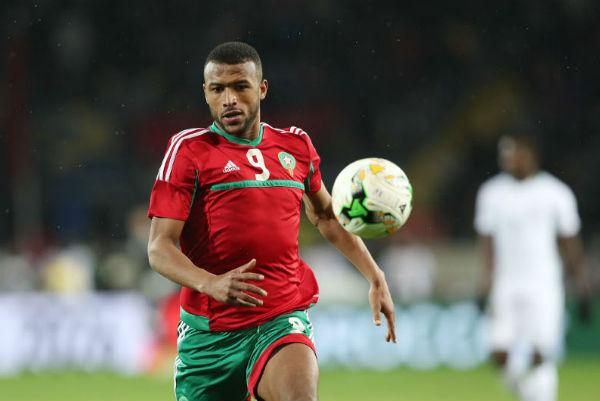 Ayoub El Kaabi, lors du match du Maroc face au Nigeria, en finale du CHAN 2018 à Casablanca.