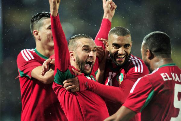 Lors de la finale du CHAN 2018 remportée par le Maroc face au Nigeria.