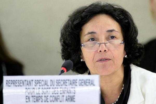 Leila Zerrougui, Représentante spéciale du Secrétaire général pour les enfants et les conflits armés lors de la session extraordinaire sur l'Irak du Conseil des droits de l'homme, le 1er septembre 2014