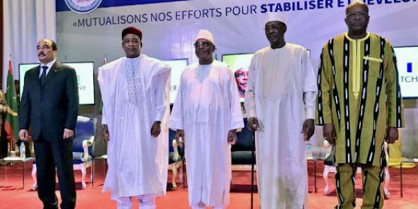 Les chefs d'État du G5 Sahel, lors de la conférence du 6 février 2018 à Niamey