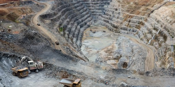 La mine de cuivre Frontier à Sakania, à la frontière avec la Zambie, à l'extrême sud-est de la province minière du Katanga, en République démocratique du Congo, le 3 mars 2015.
