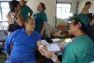 Cuba a une importante politique de coopération médicale à travers le monde. Ici, des médecins cubains au Chili, en mars 2010.
