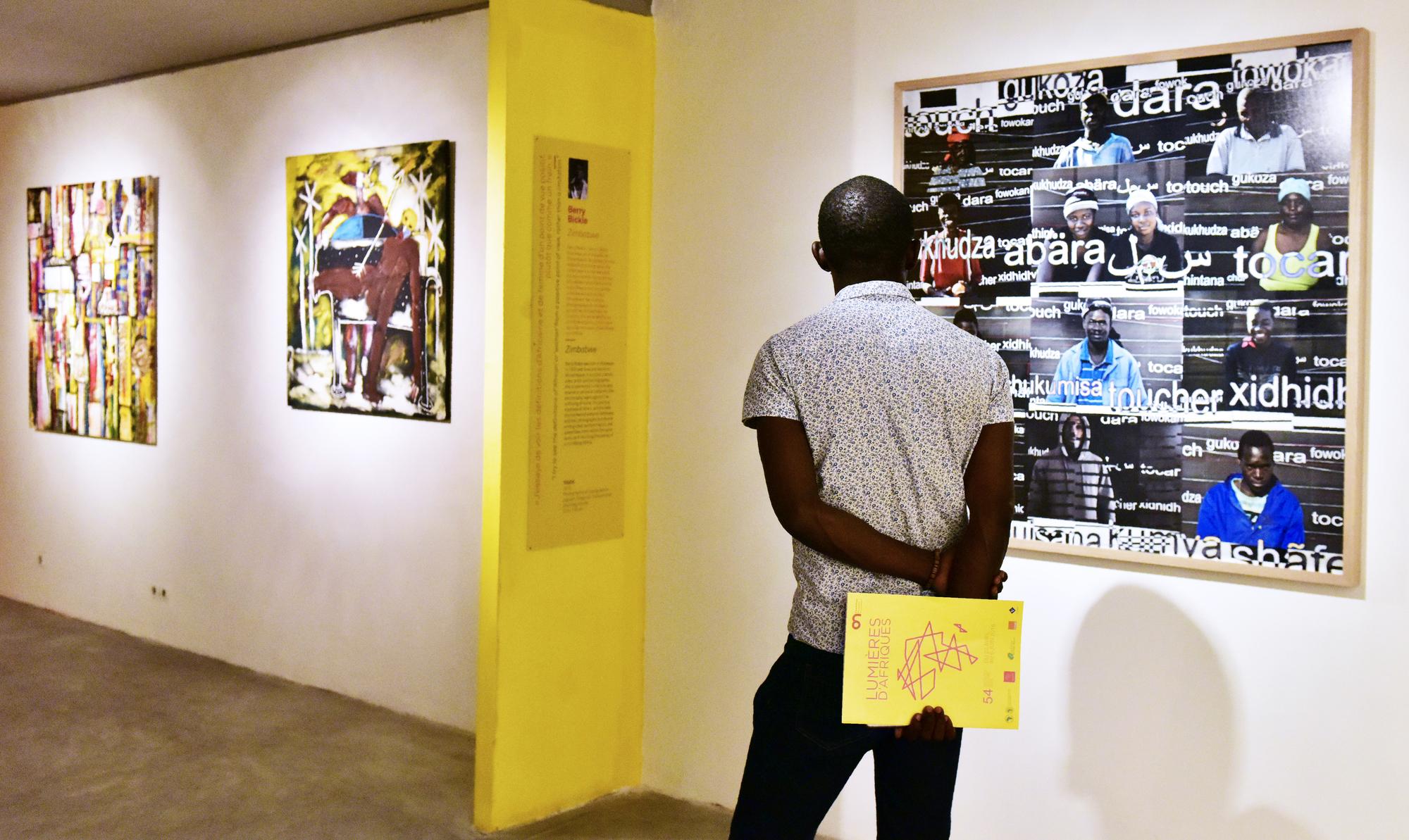 Vernissage de l'exposition «Lumières d'Afriques», en 2016.