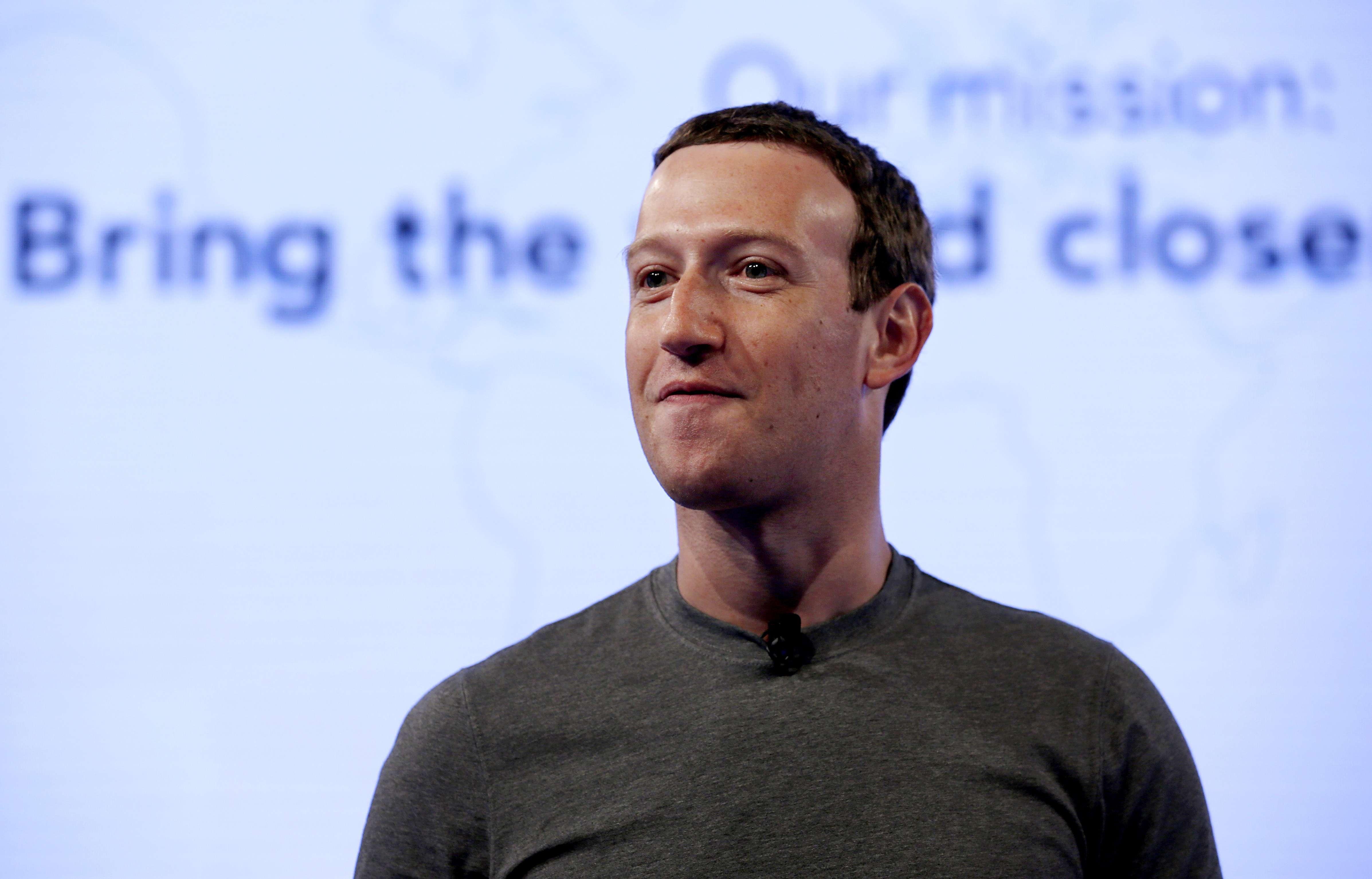 Mark Zuckerberg, PDG de Facebook, en 2017.