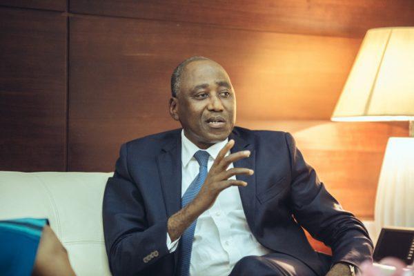 Amadou Gon Coulibaly, Premier ministre de Côte d'Ivoire, dans son bureau le 30 juin 2017.