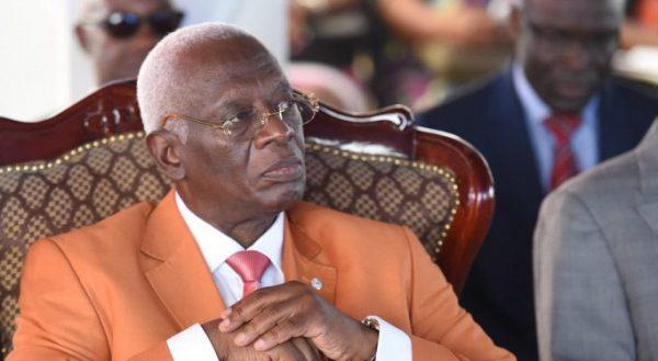 Aboudramane Sangaré lors de la commemoration de l'arrestation de Laurent Gbagbo le 11 avril 2017 à Abidjan