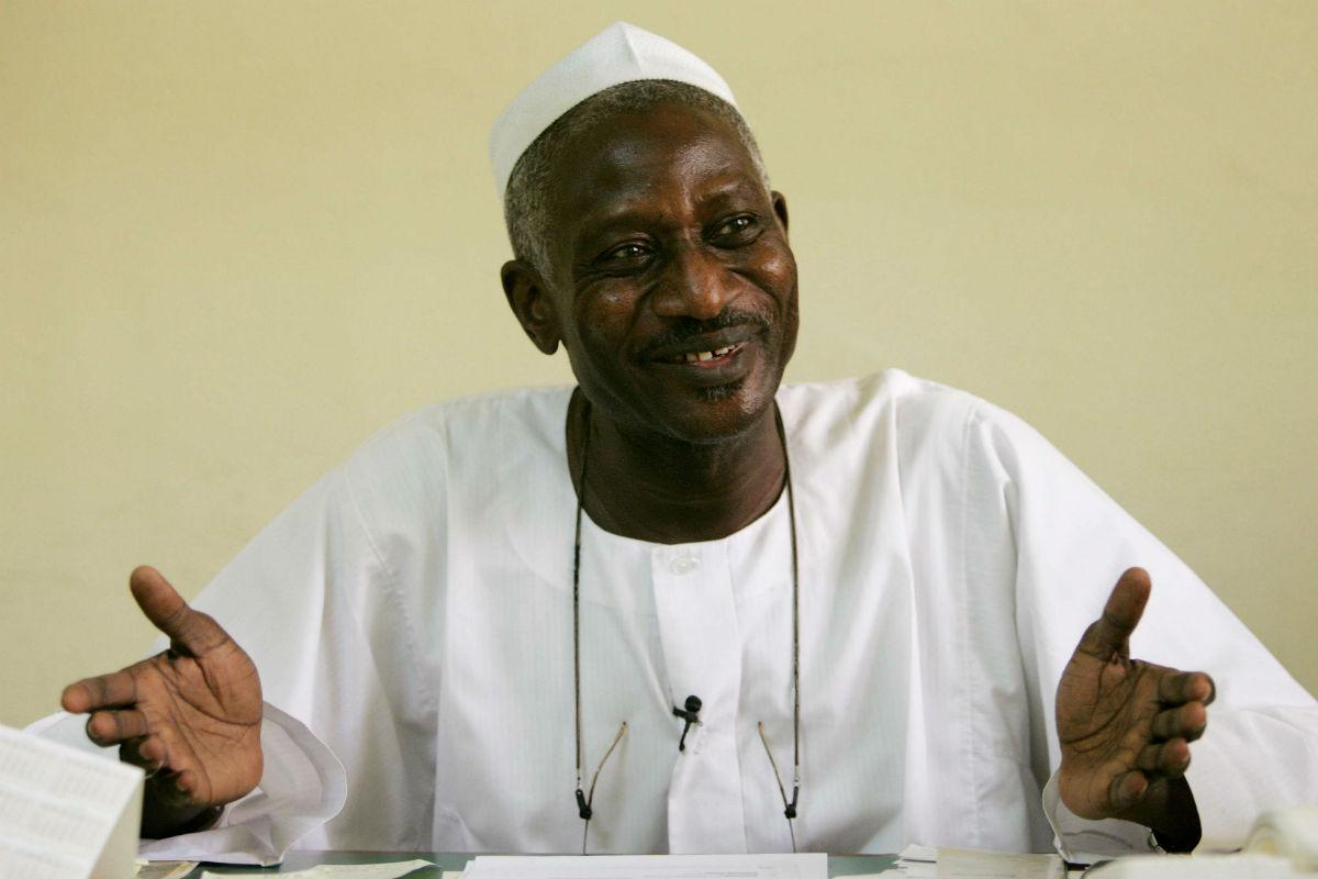 Ibni Oumar Mahamat Saleh, en avril 2006 à N'Djamena.