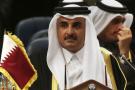 Cheikh Tamim ben Hamad Al-Thani, émir du Qatar, à Koweït-City le 5 décembre 2017.