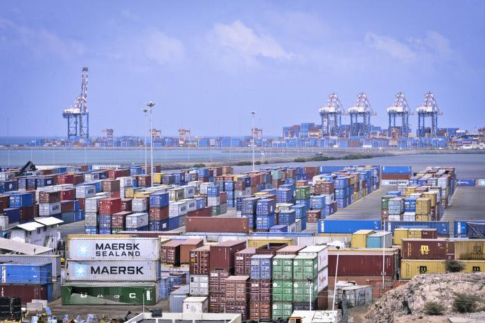 Terminal à conteneurs de Doraleh (Djibouti) en 2013.