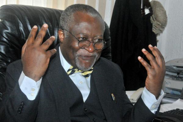 Akere Muna, avocat camerounais, alors président du Conseil économique, social et culturel de l'Union africaine, et vice-président de Transparency International, le 9 mars 2011.