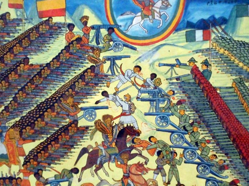 La bataille d'Adoua, représentation au British Museum