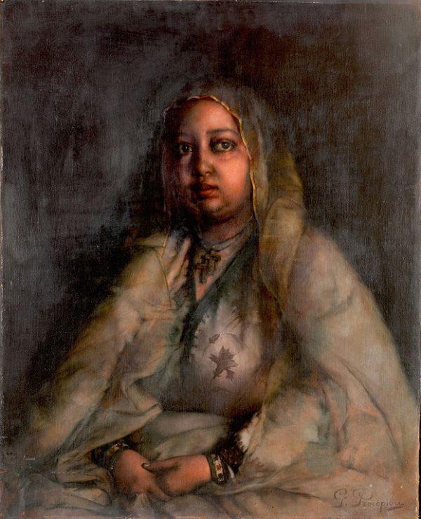L'impératrice d'Éthiopie Taytu Betul, en 1905
