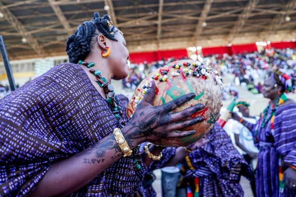 Lors du défilé inaugural du FISO 2018, faisant de Dakar la capitale culturelle des Soninkés du 21 au 25 février 2018.