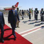 Recep Tayyip Erdogan, le président turc, et Mohamed Ould Abdel Aziz, le président mauritanien, à Nouakchott le 28 février 2018.