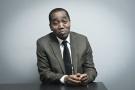 Rachid Ndiaye (Guinee), ministre de la Communication, ancien journaliste puis conseiller du president Alpha Conde. A Paris le 18.01.2018. Photo : Vincent Fournier/JA