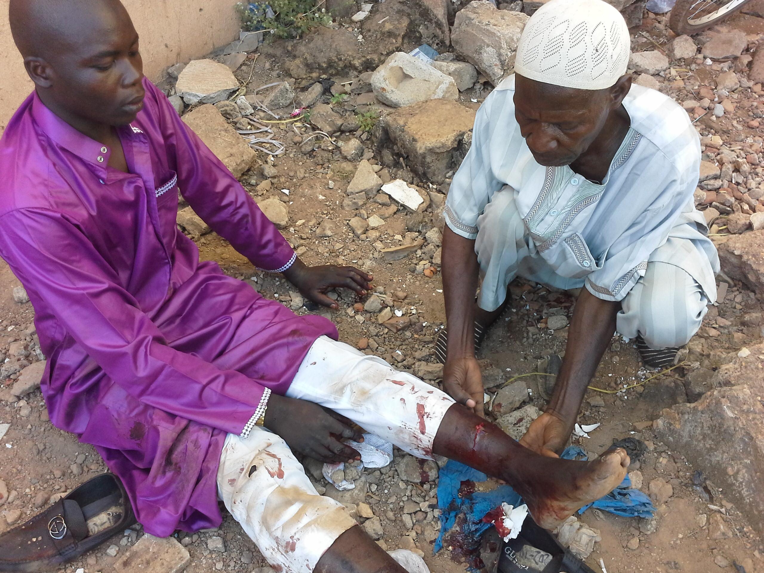 Djipo Mahamadi, blessé lors des attaques de Ouagadougou, le 2 mars 2018.