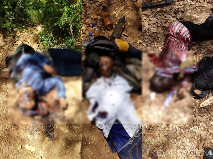 Un photomontage des assaillants tués à l'ambassade de France sur le site Koaci.com.