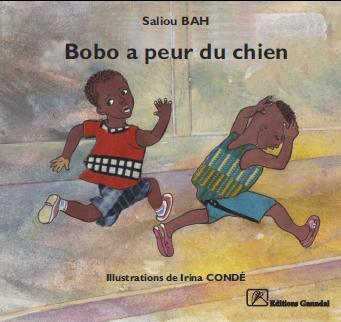 Couverture de Bobo a peur du chien, l'une des références des albums illustrés pour enfants de la maison d'édition créée par Aliou Sow.