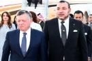 Le Roi de Jordanie Abdallah II en visite au Maroc, sur invitation de Mohammed VI, le 10 mars 2015.