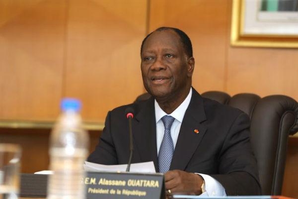 Alassane Ouattara, lors de son allocution télévisée du 7 mars 2018.