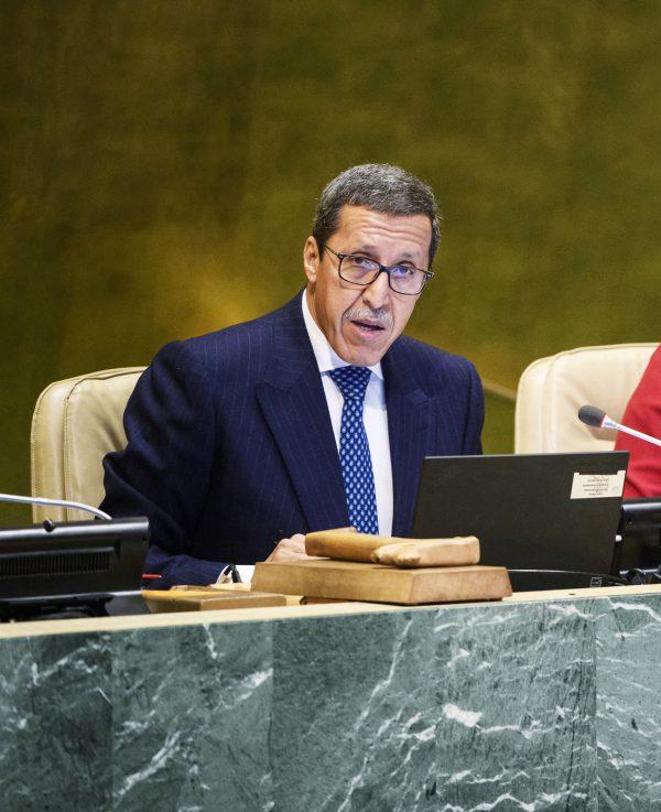 Omar Hilale, représentant permanent du Maroc auprès des Nations Unies, le 6 décembre 2017
