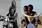 A droite, le visuel de la tournée de Beyoncé et Jay Z (2018), à droite, une image du film Touki Bouki, de Djibril Diop Mambéty (1973).