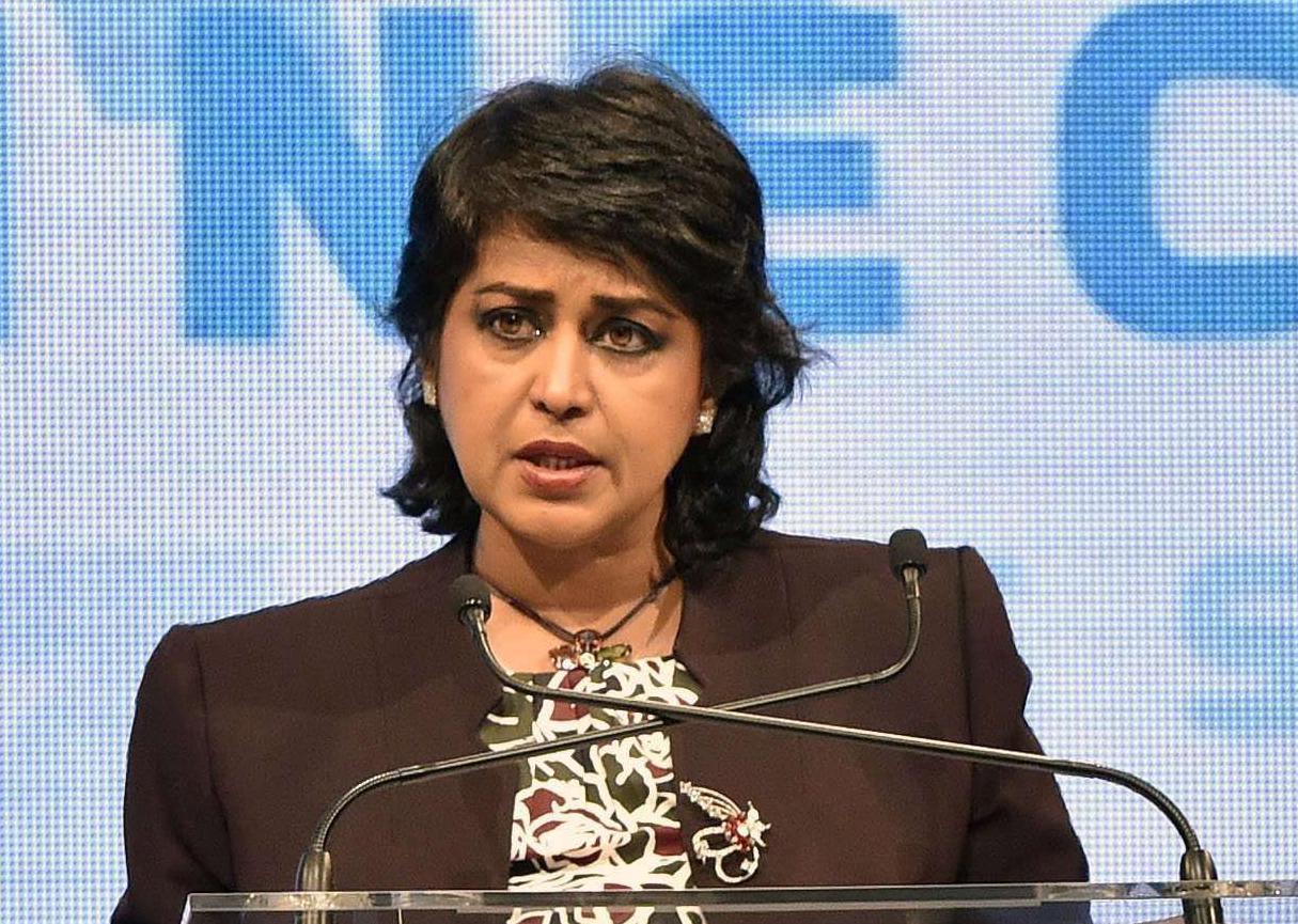 La présidente mauricienne Ameenah Gurib-Fakim à Budapest, le 29 novembre 2016.