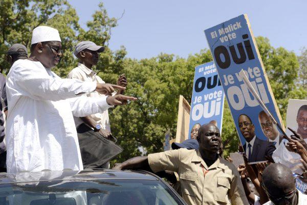 Le président Macky Sall en campagne pour le oui au référendum constitutionnel. Ici à Thiès, en 2016.