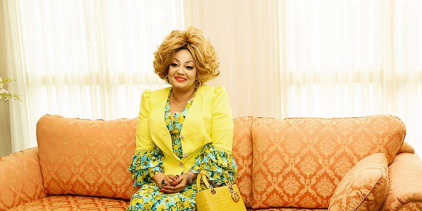 Chantal Biya lors de la cérémonie des vœux, en janvier.