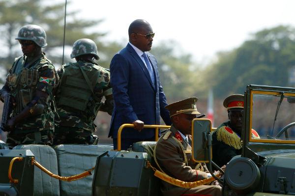 Pierre Nkurunziza, lors des festivités de l'Indépendance du Burundi, le 1er juillet 2017.