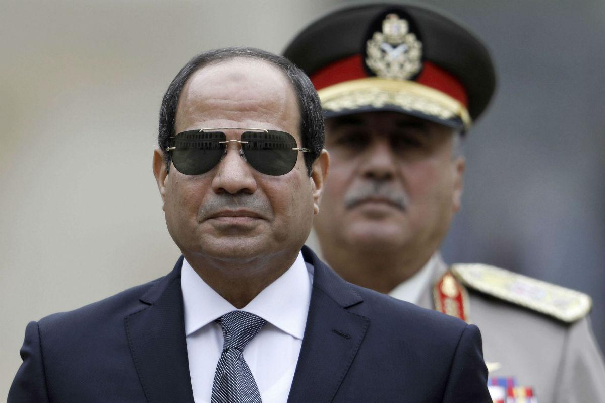 Le président égyptien Abdel Fattah al-Sissi, le 24 octobre 2017 à Paris.