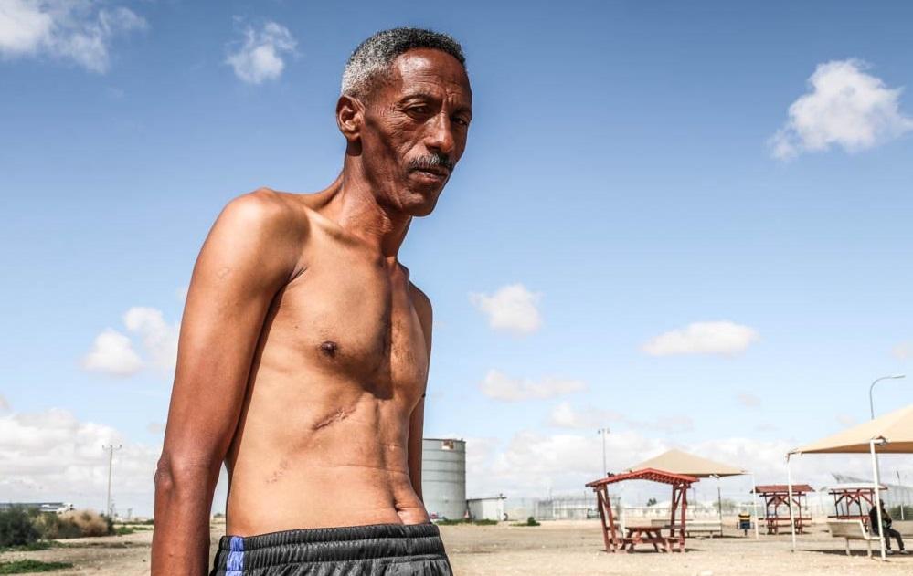 Muller, un migrant érythréen arrivé dans le centre de Holot il y a onze mois.
