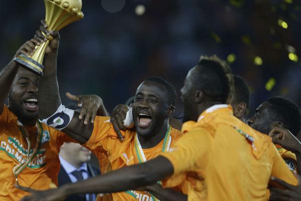 La Côte d'Ivoire, championne d'Afrique en 2015.