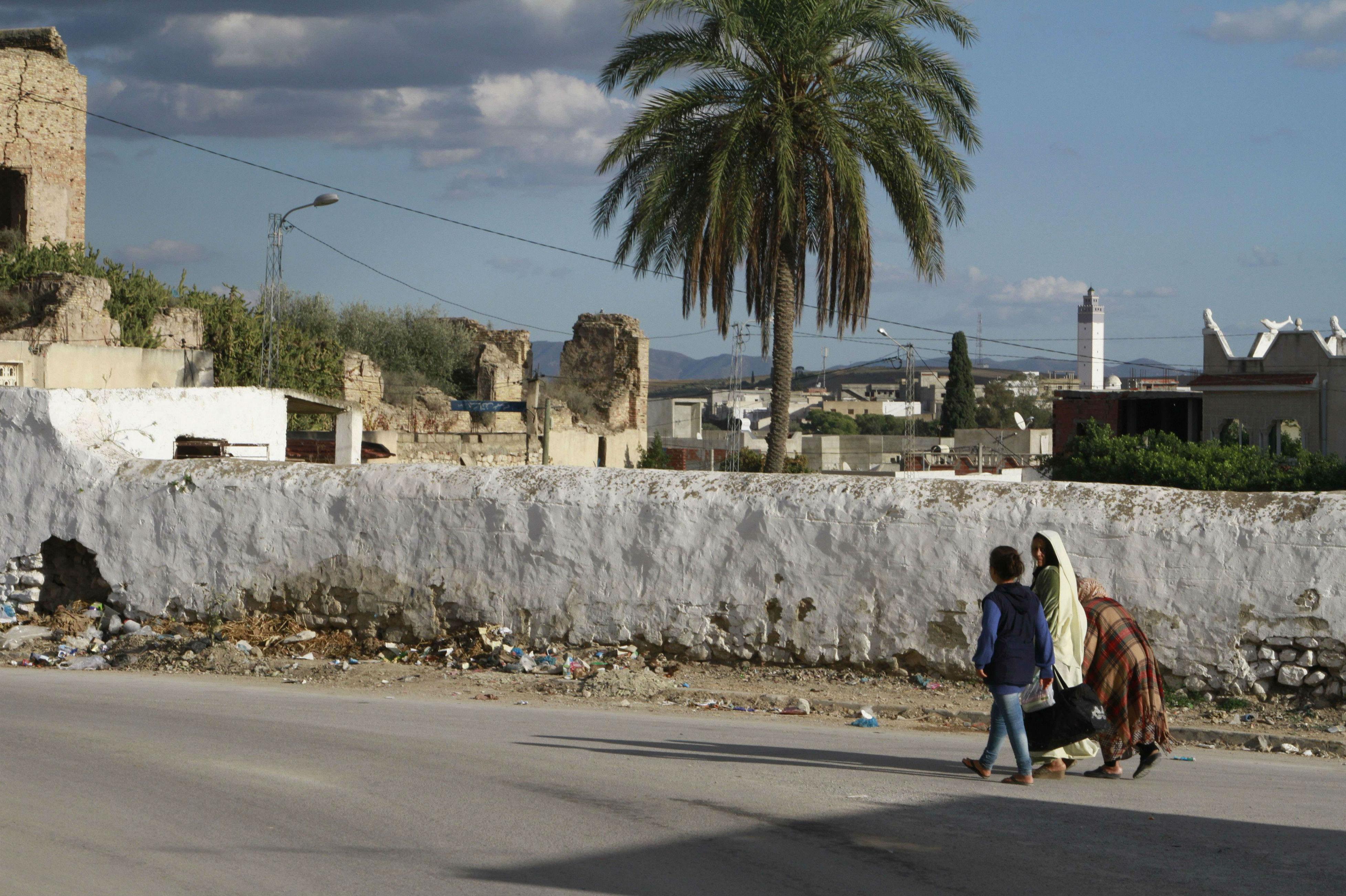 Mhamdiya, un quartier de la banlieue de Tunis d'où sont partis de nombreux jeunes qui ont rejoint des groupes jihadistes en Syrie et en Libye.