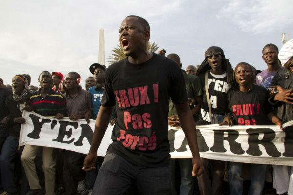 Lors des manifestations contre Abdoulaye Wade, en 2012 à Dakar, menées par le mouvement Y en a marre.