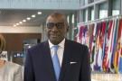 Sidiki Kaba à la Cour pénale internationale (CPI), le jour de la cérémonie qui accueille le Salvador comme 124ème État au sein du statut de Rome, le traité fondateur de la CPI, à La Haye (Pays-Bas) le 2 juin 2016