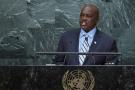 Mokgweetsi Masisi, l'actuel président du Botswana ici à la tribune des Nations-unies, en septembre 2016.