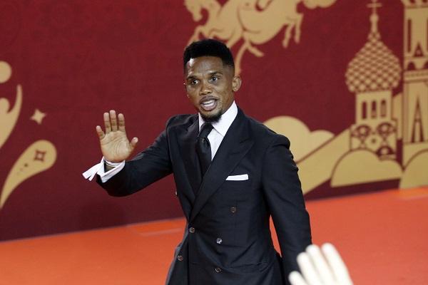 Le Camerounais Samuel Eto'o, en décembre 2017 à Moscou.