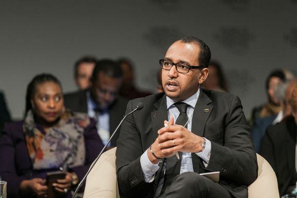 Moustapha Ben Barka, secrétaire général de la présidence malienne, au Forum économique mondial sur l'Afrique au Cap (Afrique du Sud), en juin 2015
