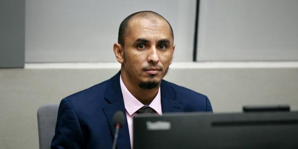 Al Hassan lors de sa première comparution devant la CPI, le 4 avril 2018.