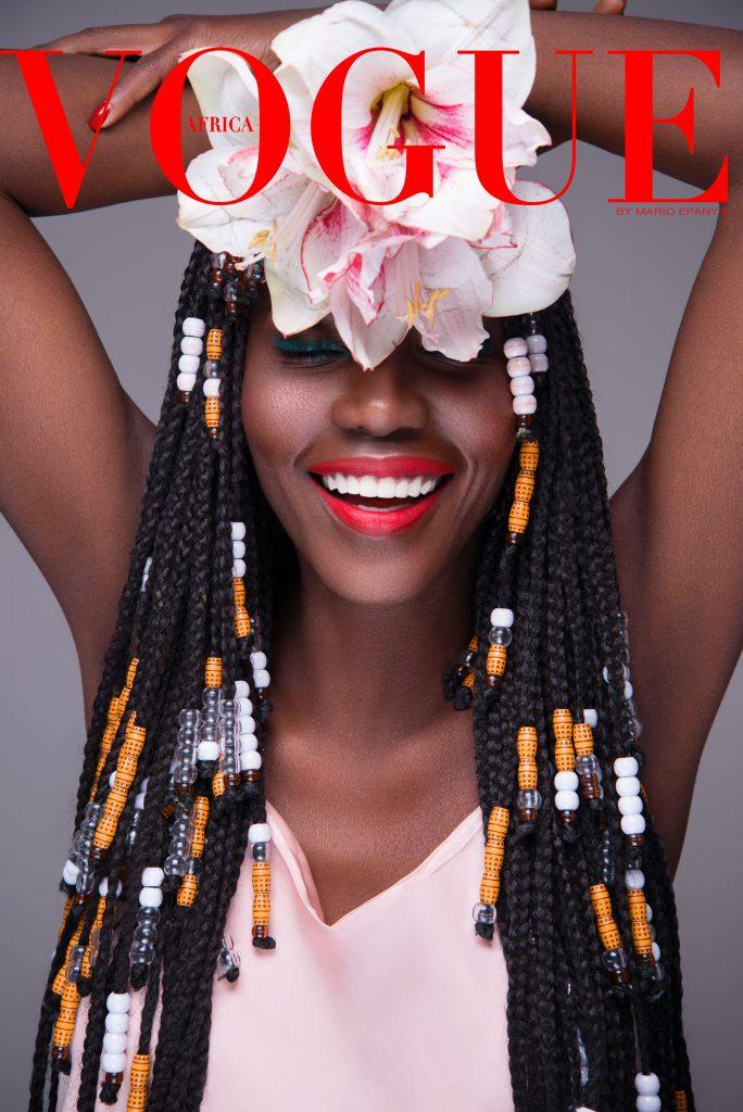 La styliste sénégalaise Adama Paris pose sur l'une des covers Vogue Africa de Mario Epanya.