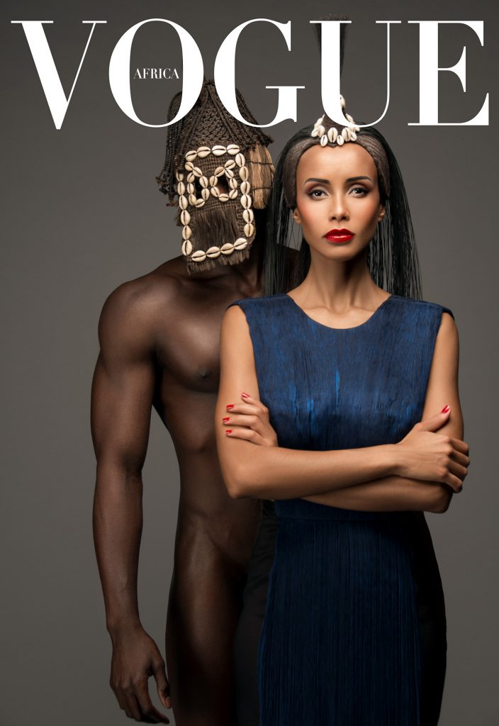 Sonia Rolland pose pour la cover Vogue Africa de Mario Epanya.