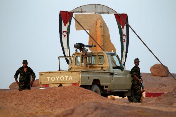 Des hommes du Polisario, à Bir Lahlou, en septembre 2016.