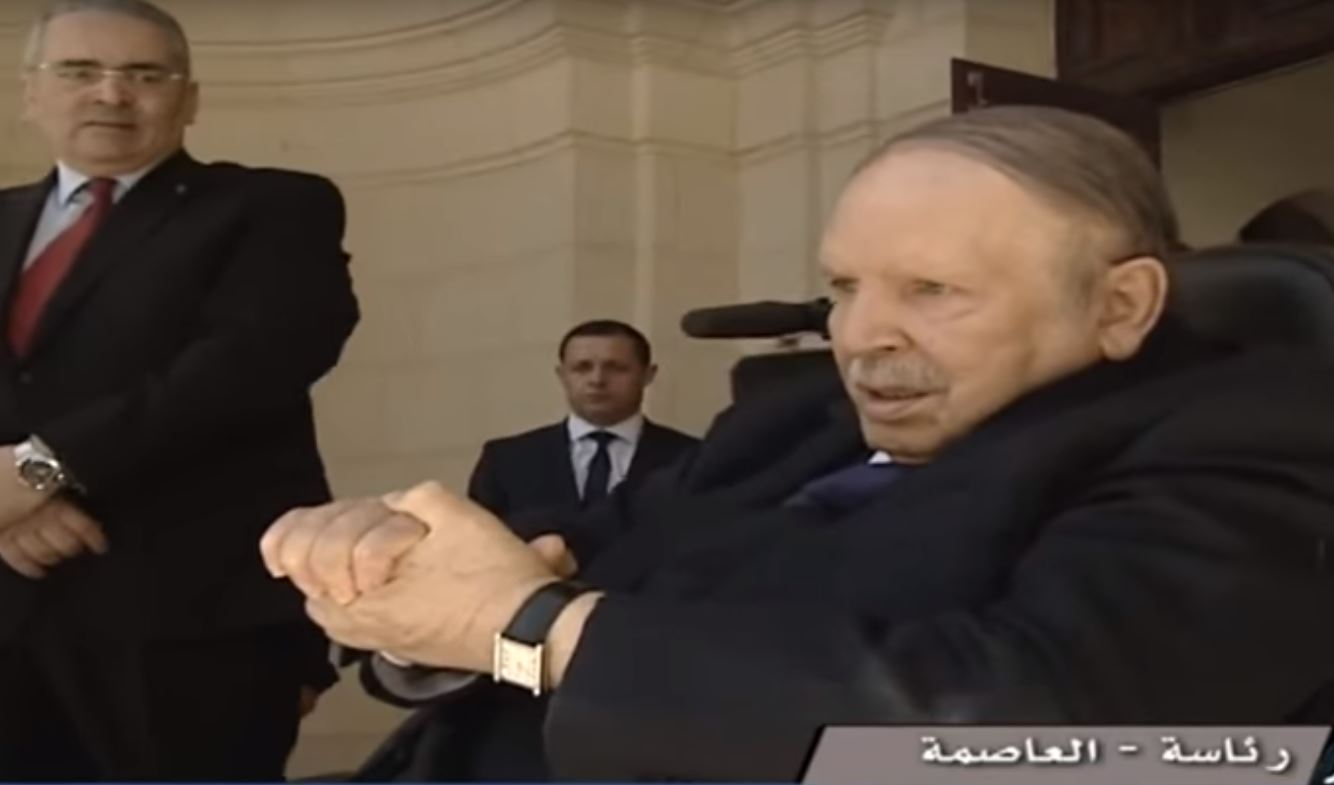 Abdelaziz Bouteflika à Alger, le 9 avril 2018.