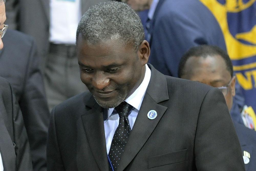 Magloire Ngambia, en 2010 au siège du FMI.