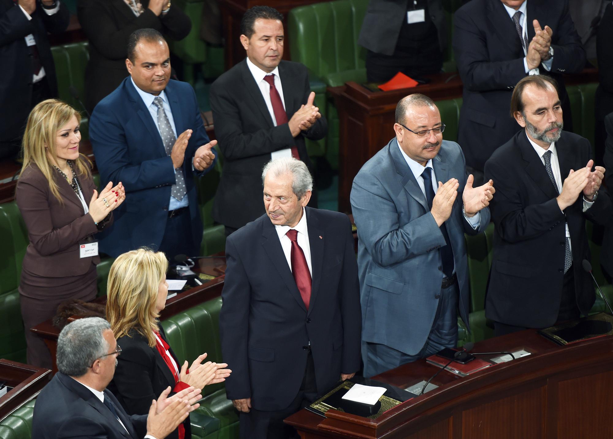 Élection de Mohamed Ennaceur à la présidence de l'Assemblée,le 4décembre 2014.