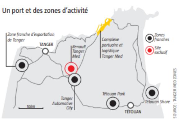Un port et des zones d'activité