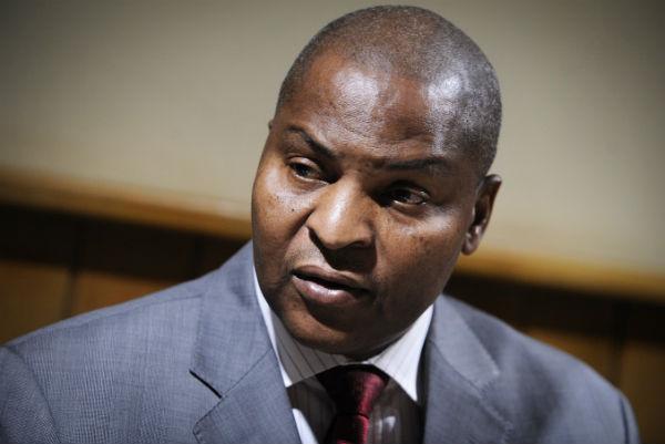 Faustin Archange Touadéra, président centrafricain, ici en janvier 2012.