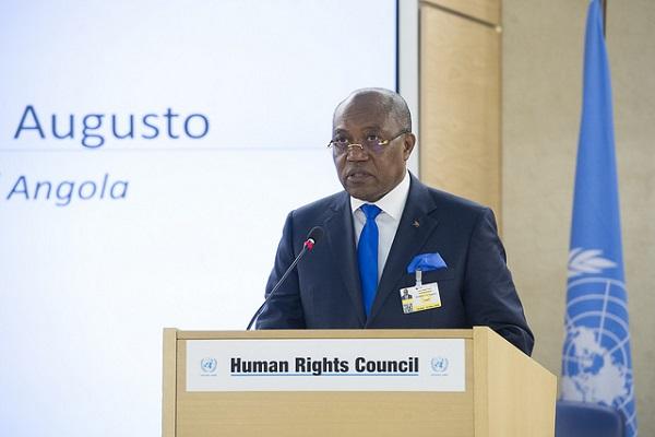 Manuel Domingos Augusto, Ministre des relations extérieures de l'Angola à la 37ème session du Conseil des droits de l'homme
