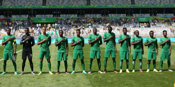 La sélection du Nigeria, le 20 août 2016.